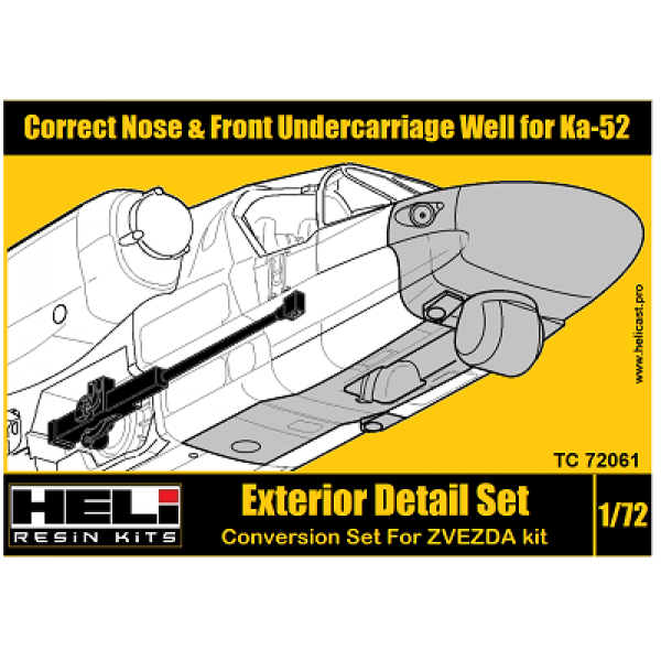 Correct Nose & Front Undercarriage Well for Ka-52 TC 72061